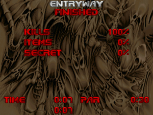 Doom's end-of-level screen