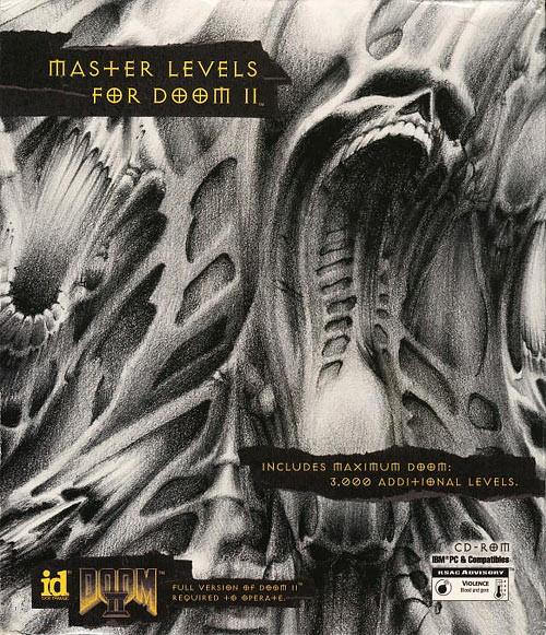 Master Levels for Doom 2 box art.