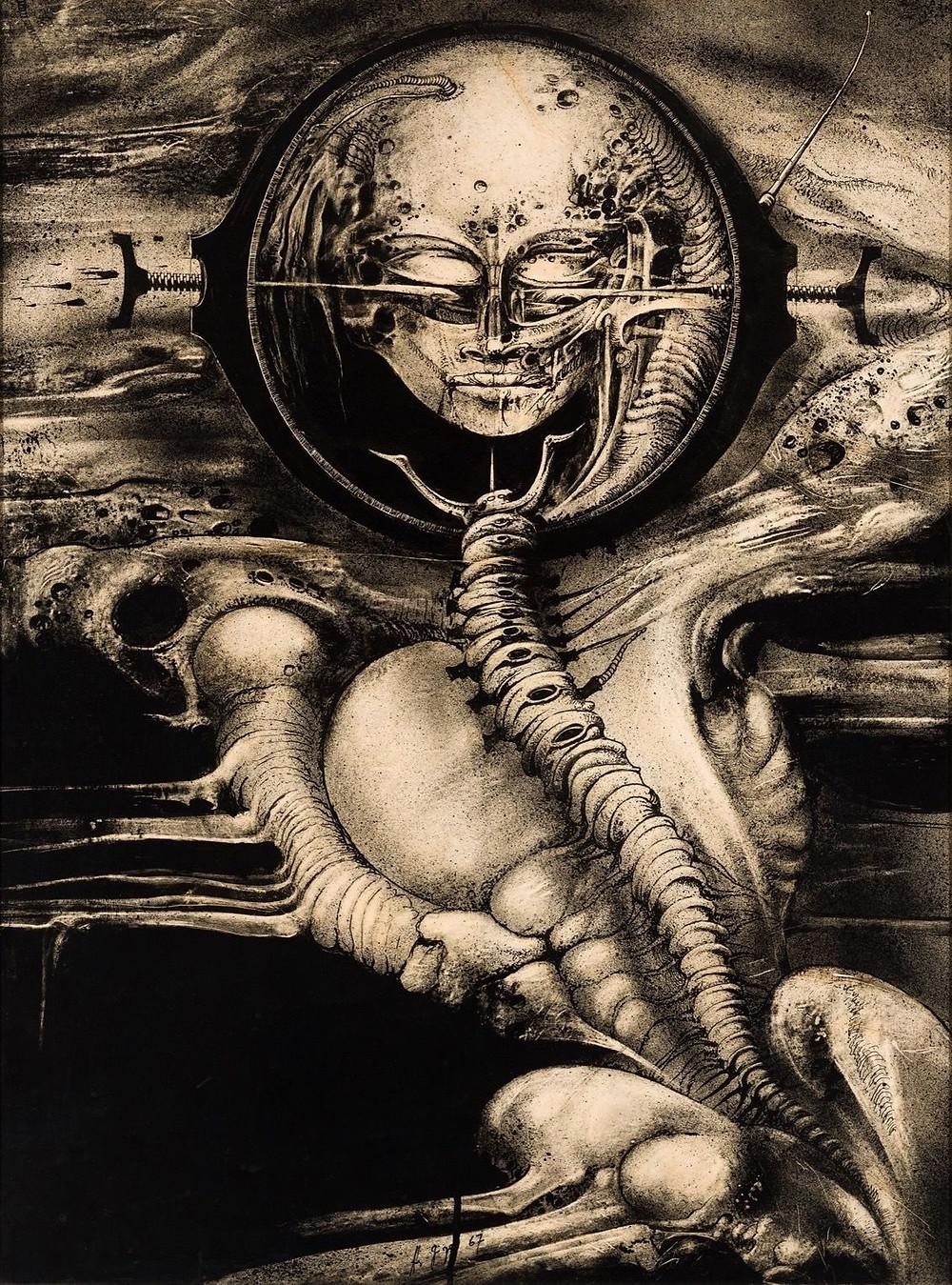H.R. Giger, Cthulhu (Genius) III, 1967