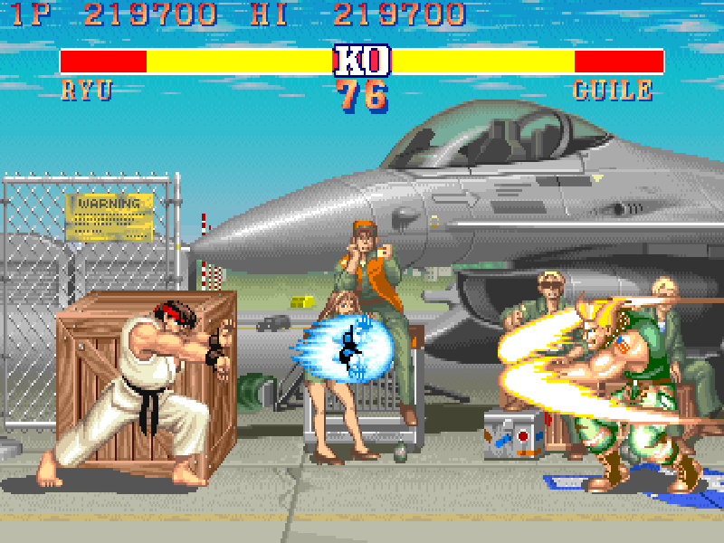 Emulated Street Fighter II without filters
