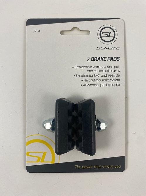 SUNLITE BRAKE PADS (1 x Pair BLACK)