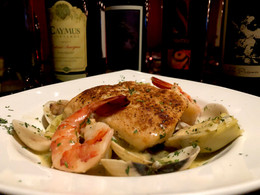 Corvina with Clams and Shrimp