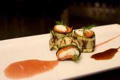 Roulades de courgettes au saumon fumé