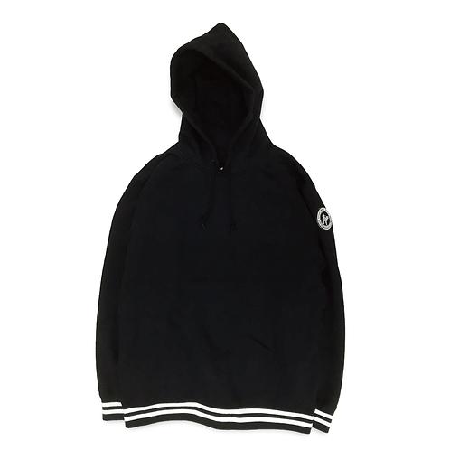 NW Wappen Rib Line Pullover Sweatshirt [Black]