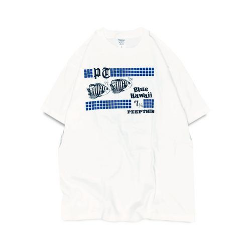 Peep This Blue Hawaii T-shirt [White]