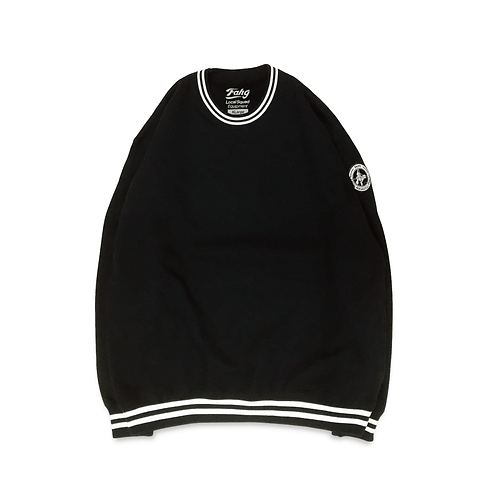 NW Wappen Rib Line Sweatshirt [Black]