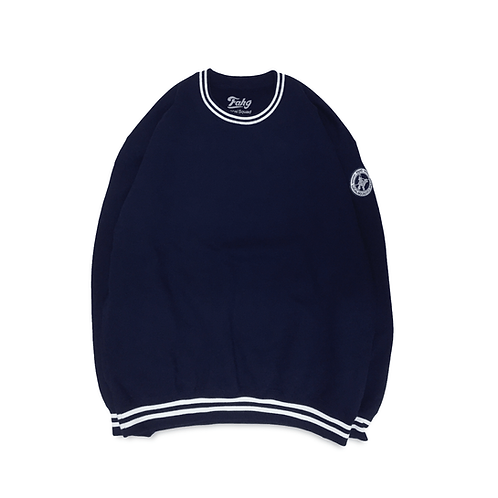 NW Wappen Rib Line Sweatshirt [Navy]