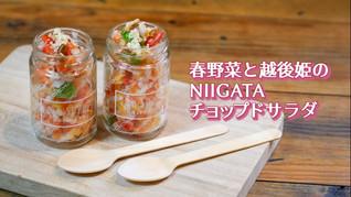 越後姫のチョップドサラダ - 新潟ヘルスフードPJレシピ