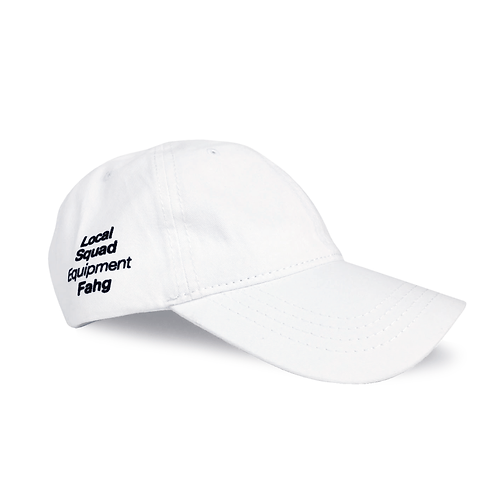 Washed Cotton Twill Low Cap [White]