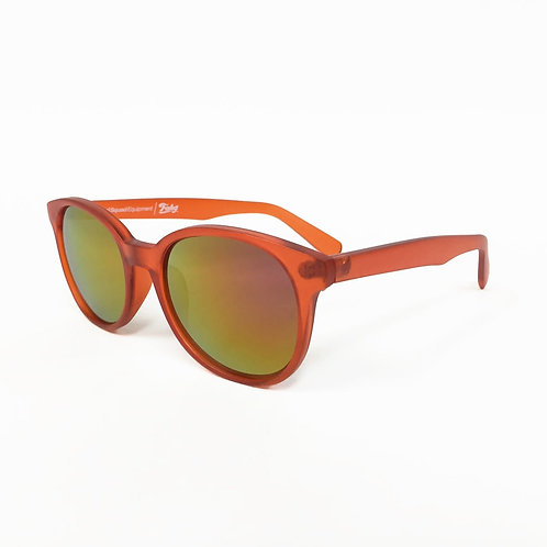 Mat Frame Mirror Lens Sunglasses [Orange]
