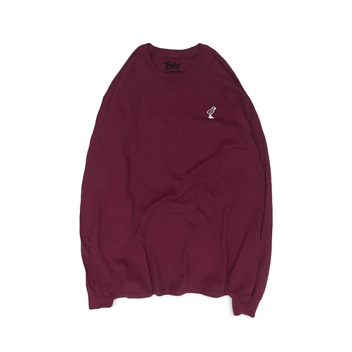 Keep Yanbarukuina Long Sleeve T-shirt [Burgundy]