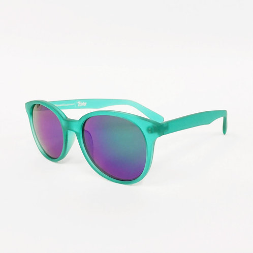 Mat Frame Mirror Lens Sunglasses [Green]