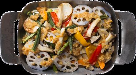 グリル野菜のジンジャーサラダ