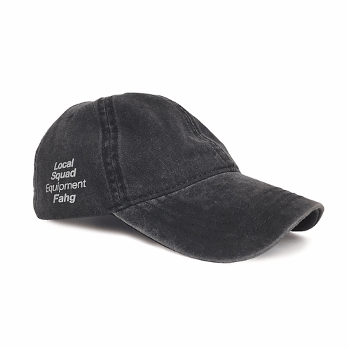 Washed Cotton Twill Low Cap [Black]
