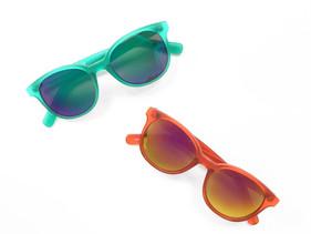 Mat Frame Mirror Lens Sunglasses