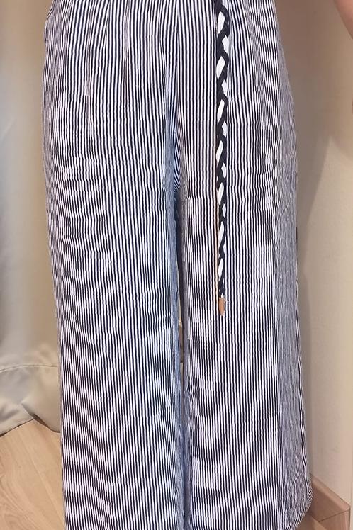 Maryley - Pantalone righe con cintura