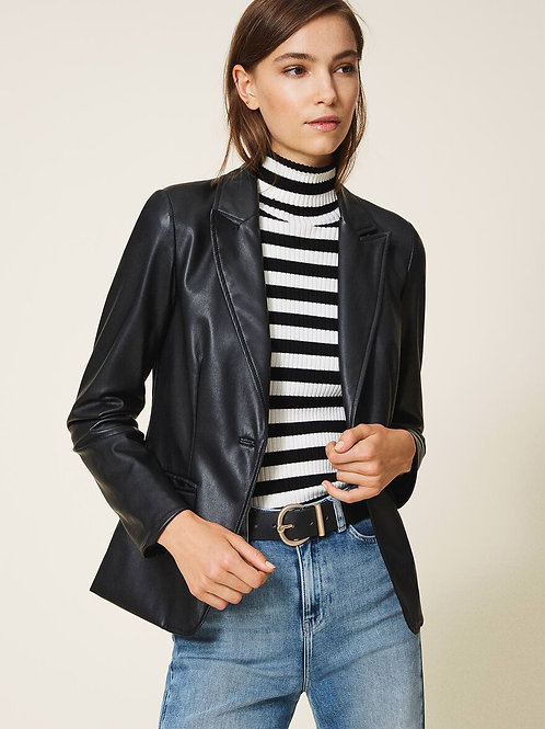 TwinSet Outlet - Giacca blazer in similpelle