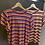 Thumbnail: Angela Davis - T-shirt con galette multicolor righe