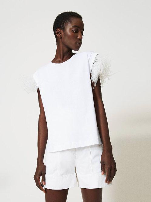 TwinSet - T-shirt piume