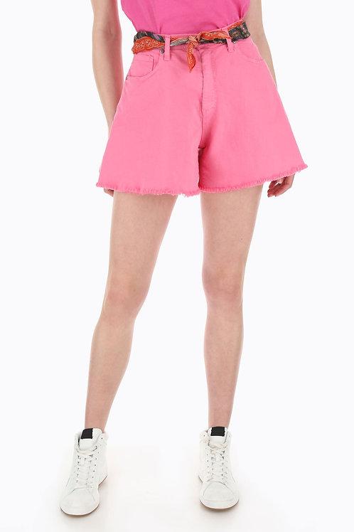 Please - Shorts svasati in denim monocolor
