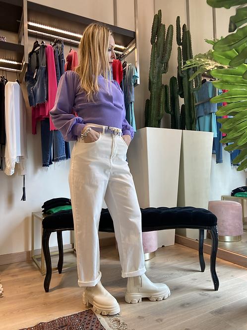 Angela Davis - Pantalone cropped in cotone