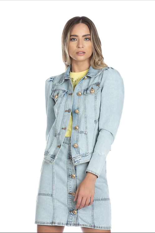 Relish - Giubbino manica a sbuffo di jeans