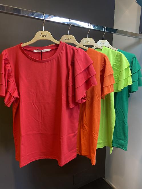 Angela Davis - T-shirt con galetta intinta unita