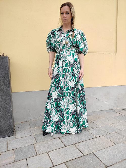 Angela Davis - Abito fantasia floreale verde