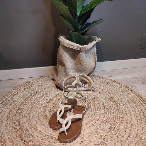 Ovyé - Sandalo intrecciato in pelle