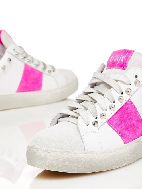 Ovyè - Sneakers fucsia borchie