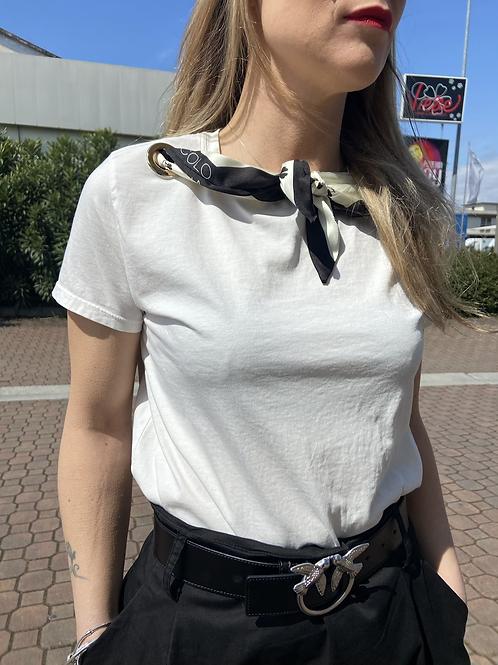 Vicolo - T-shirt con foulard a nodo