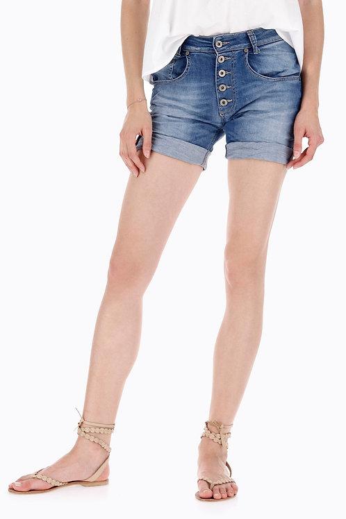 Please - Shorts i jeans con bottoni