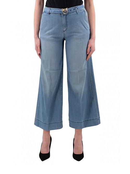Pinko - Jeans palazzo con cintura logo