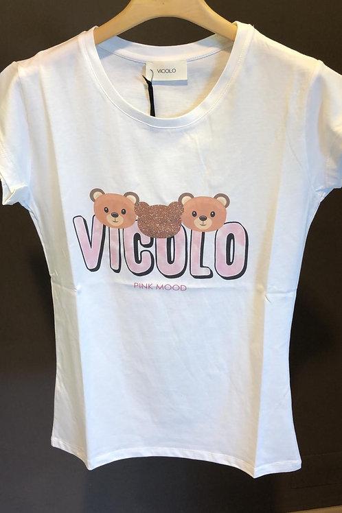 """Vicolo - T-shirt stampa """"Vicolo"""" e orsetti"""