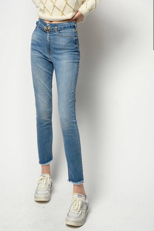 Pinko - Jeans skinny soft stretch con cintura