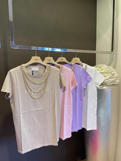 """Vicolo - T-shirt """"VICOLO"""" con collana"""