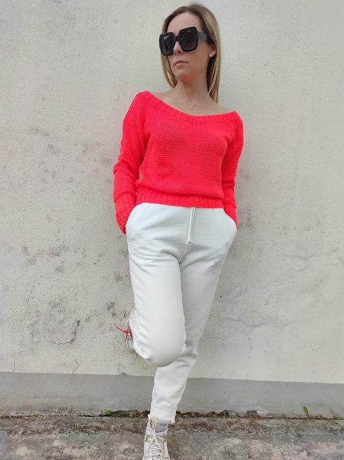 Angela Davis - Pullover scollato manica lunga