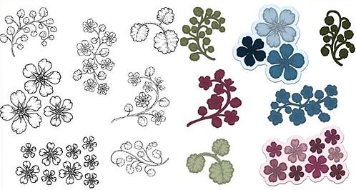 Wildwood Florals Die & Stamp Set