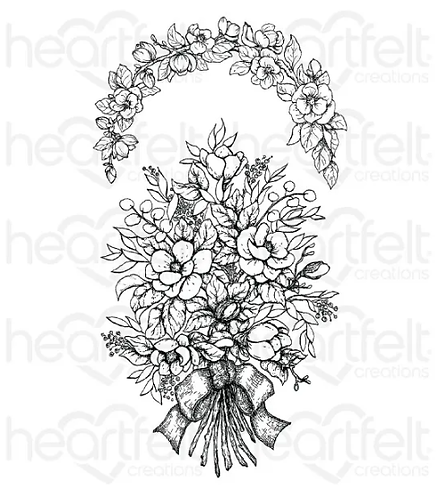 Sweet Magnolia Bouquet Cling Stamp Se