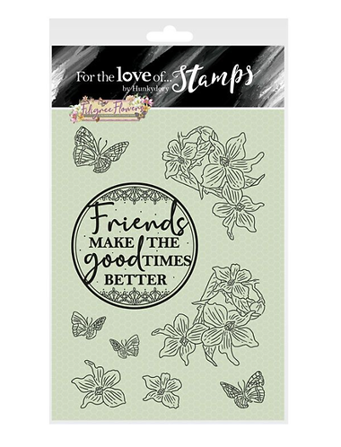 Filigree Flowers - Violet - For the Love of Stamps