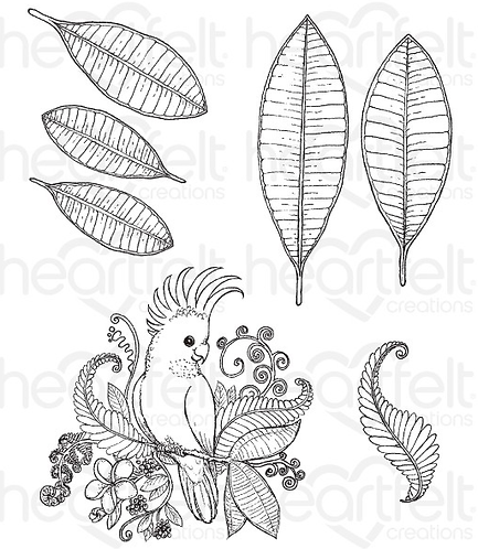 Tropical Paradise Collection - Tropical Cockatoo Cling Stamp Set