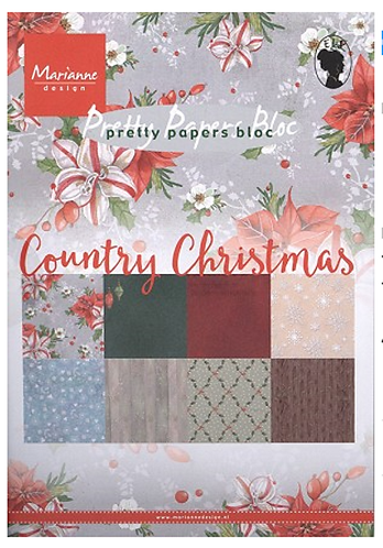 Marianne Design A5 Paper Bloc - Country Christmas