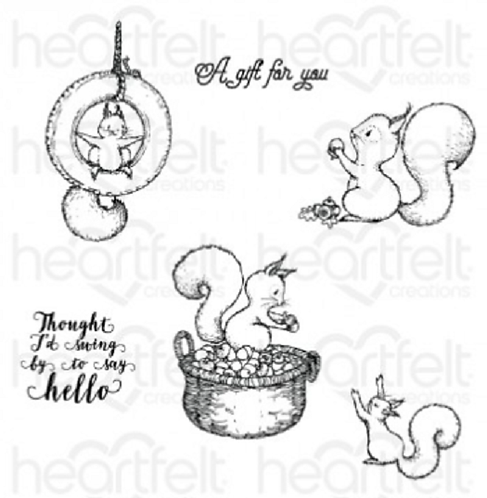 Oakberry Lane Collection - Furry-Tailed Frolic Cling Stamp Set