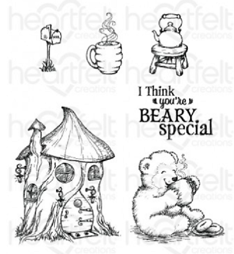 Beary Fun Retreat Collection - Happy Time Treehouse Stamps