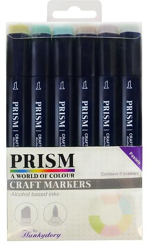 Prism Craft Markers Set 3 - Pastels x 6 Pens