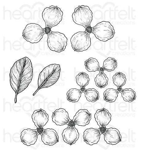 Sweet Magnolia Blooms Cling Stamp Set