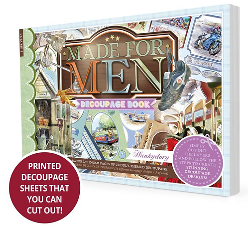 Made for Men Decoupage Book