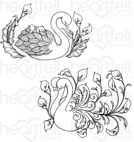 Calla Lily Collection - Swan Lake Cling Stamp Set