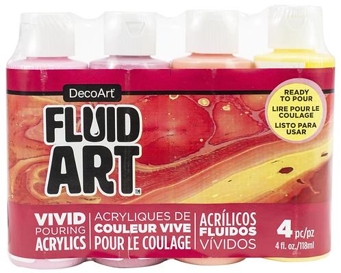 FluidArt Paint Pouring Value Pack 4/Pkg - Sweet Treat