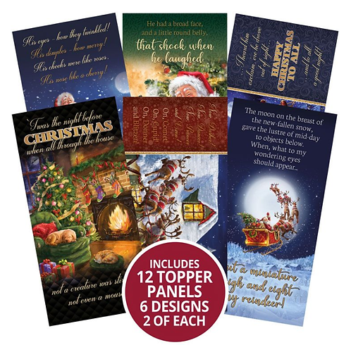 'Twas the Night Before Christmas DL Topper Panels